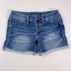 Imperial Star Girls Button-Up Cutoff Jean Shorts
